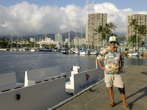 Chuck driving Waikiki Yacht Club Shuttle for Opening Day Feb 11, 2012