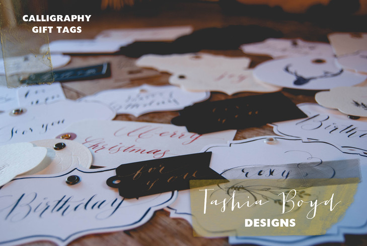 Calligraphy Gift Tags by Tashia Boyd Designs