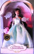 Princess Quinceanera Doll Aqua Blue Dress